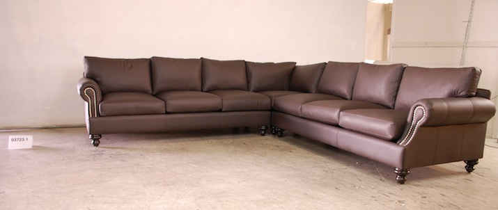 Geneve large sectional leather